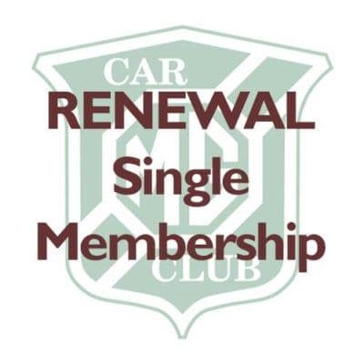RENEWAL – Single Membership