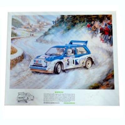 MG Metro 6R4 Pond Arthur 1986 Monte Carlo Print