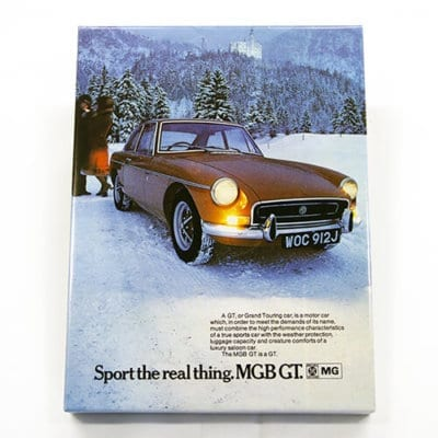 MGB GT Classic Advert Canvas