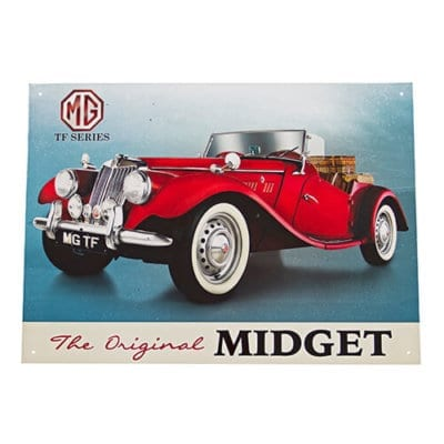 MG T Type Metal Wall Sign
