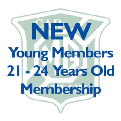 NEW – Young Members 21-24 Years Membership