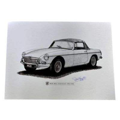 MGB Print signed by Don Hayter
