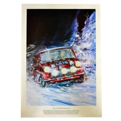 Mini Cooper Monte Carlo 1965 Print