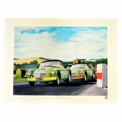 MGA Twin Cams At Goodwood Print