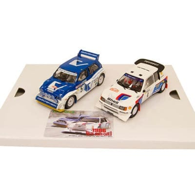 Scalextric MG Metro 6R4 Peugeot 205 T16 set
