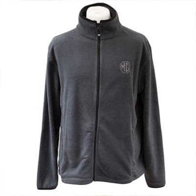 Mens Grey MG Fleece Jacket