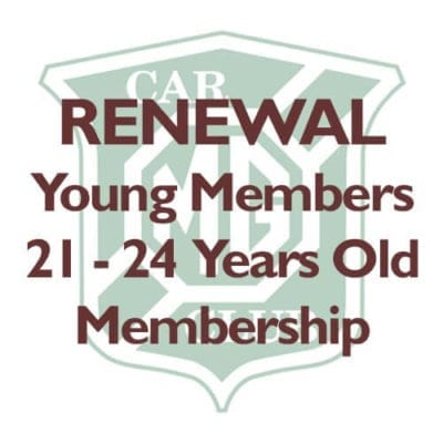 RENEWAL – Young Members aged 21-24 Years