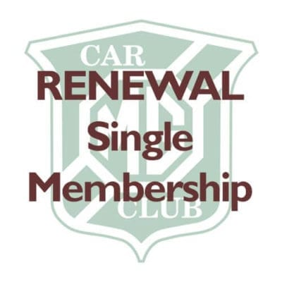 RENEWAL – Single Membership
