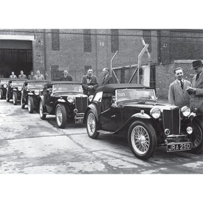 MG TC Derbyshire Police cars, MG Factory despatch department, 1946 - 500