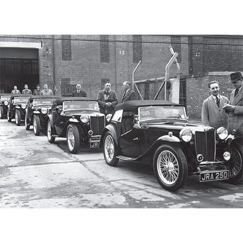 MG TC Derbyshire Police cars, MG Factory despatch department, 1946 – 500