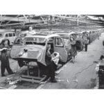 MG Y Type Saloon in production at the Abingdon works, 1950s – 500
