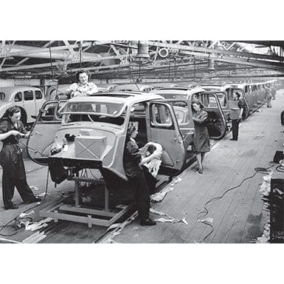 MG Y Type Saloon in production at the Abingdon works, 1950s - 500