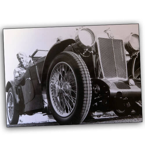 Doreen Evans in MG P-Type Le Mans 1934 500×500
