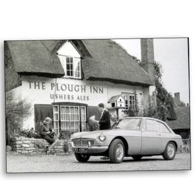 MGBGT at the Plough Inn Clifton Hampden Oxfordshire 1965 500x500