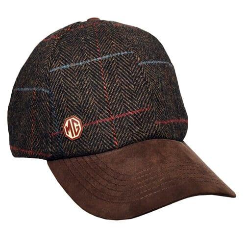 Wool Tweed Herringbone Baseball Cap Mg Car Club Shop