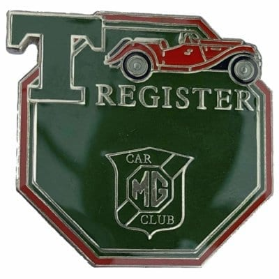 1. T Register pin badge